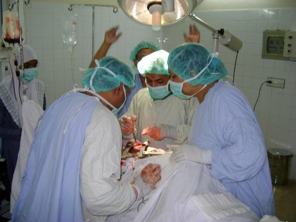 Chest Surgery Team Busy in Operation