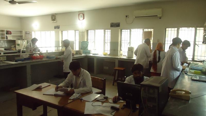 pathology lab  of gulab devi hospital